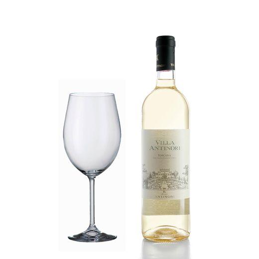 kit-Super-Degustacao-Vinho-Villa-Antinori-Branco-750ml--Gratis-uma-Taca-Bordeaux-580ml-